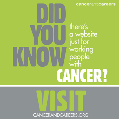 Cancer and Careers sponsor ad